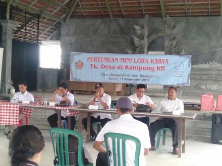 Pertemuan Mini lokakarya Tk. Desa di Kampung KB