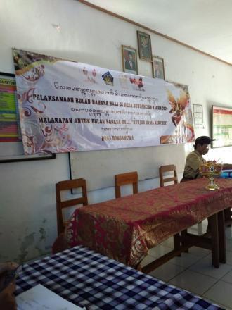 Pelaksanaan Bulan Bahasa Bali Di desa Bongancina