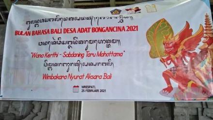 Bulan Bahasa Bali di Desa Bongancina