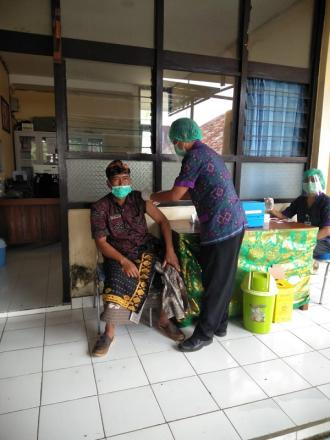 Vaksinasi Tahap I Desa Bongancina