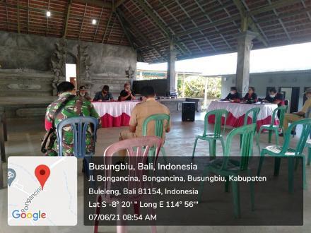 Pembentukan panitia Perbekel Di Desa Bongancina
