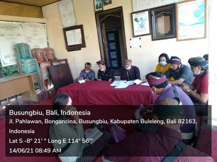 Sosialisasi Pemilihan Perbekel 2021 Di Banjar Dinas Pangkung Kunyit